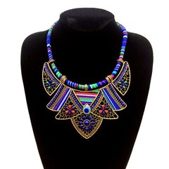 collar for women necklaces&amppendants ethnic maxi statment flower choker bohemian jewelry big vi
