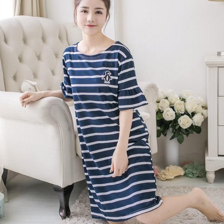 605f69cfac Cotton Nightgown Women Sweet Girl Lounge Cute Nightdress Sleepwear Summer  Home Dress Casual Night  Product No  9828010. Item specifics  Seller ...