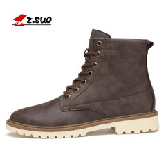 Mens Winter Leather Ankle Boots Big Size 39-47 Warm Outdoor Safety Work Sonw Shoes Male Fashion L