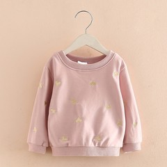 Girl Pink T Shirt 2017 Winter Autumn New Children Clothing Kids Heart Pattern Sweatshirt Girls Sh