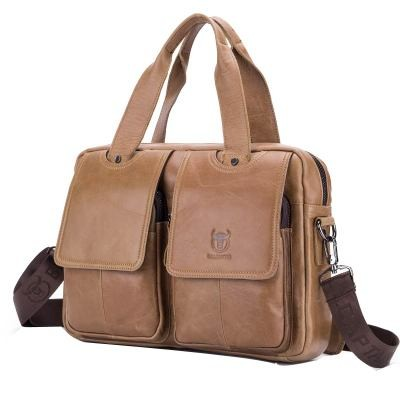 5e09585d80 Item specifics  Seller SKU QwPdqrGXtXN  Brand  Luxury Pure Handmade Natural  Genuine Leather Briefcase First Layer Oil Wax Cow Leather Men Handbag  Vintage ...