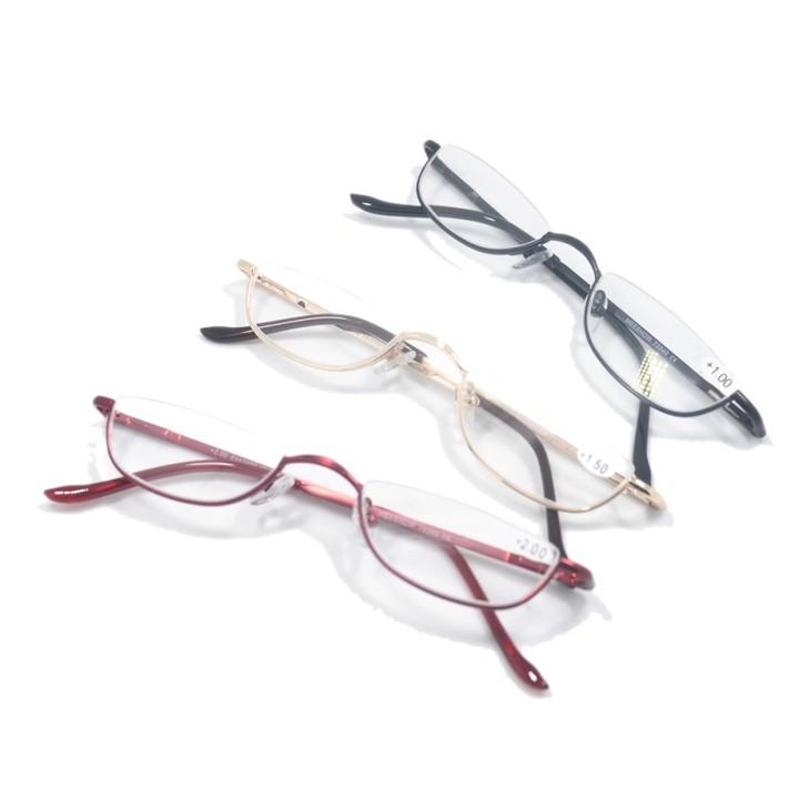 de69f7ebe31 Valuepack Retro Half Rim Reading Glasses Quality Metal Frame Glasses Men  Women Oculos de grau +