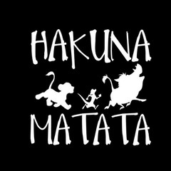 13.8cm*13.3cm HAKUNA MATATA Lion King Simba Car-Styling Vinyl Car Sticker Car Decal For vehicle b