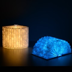 Decor Foldable Book Nightlight Tyvek Paper Folding LED Book Lamp with Colorful USB Rechargeable B