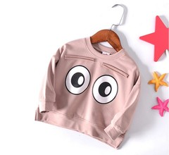 Girls T-shirts Long Sleeve T-shirts Children Big Eyes Design  Clothing Kids Casual Clothes Girls