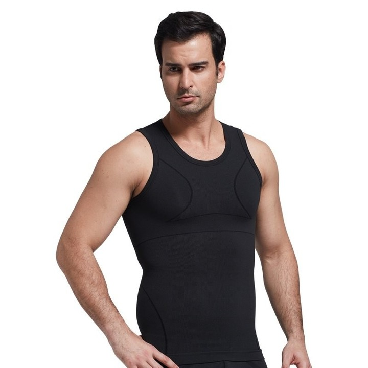 1caa0197a23b tank top shapers tummy control shape wear Slimming Underwear Men Shaper  Vest Body Slimming Shapew