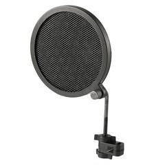 Dubbellaags Studio Microfoon Mic Wind Screen Pop Filter/Swivel Mount/Masker Teruggeschrokken Voor