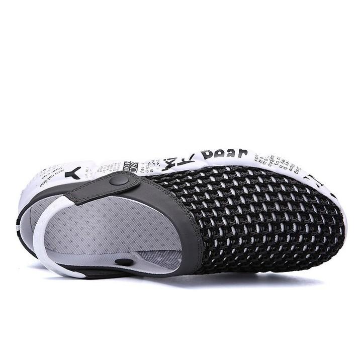 b280af19fcc56 size 39-46 Men Sandals Summer Breathable Air Mesh men lighted ...