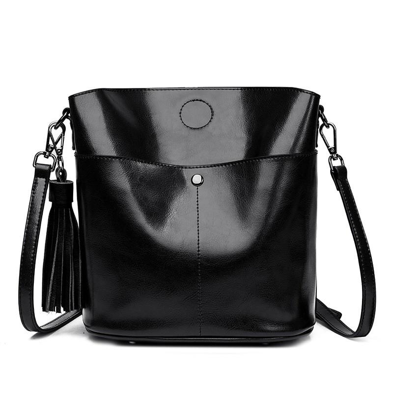 f5fe066b445a Black crossbody messenger bag womens genuine leather shoulder bag ...