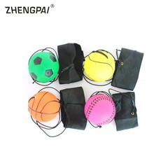 63mm Children Rubber Bouncing Ball With Reaction Training Rope Crossfit Elastic Wrist Ball Gain H