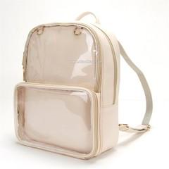 Clear Transparent Lolita Harajuku Student School Bag Backpack Candy Color Lovely Ita Bag Sweet Gi