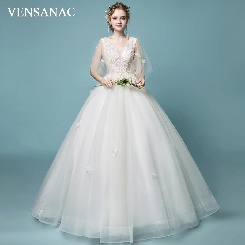 38b0982955 ... Ball Gown Wedding Dresses Elegant Lace Half Sleeve Backless Bridal   Product No  10010063. Item specifics  Seller SKU YwqpQPCyEL2  Brand
