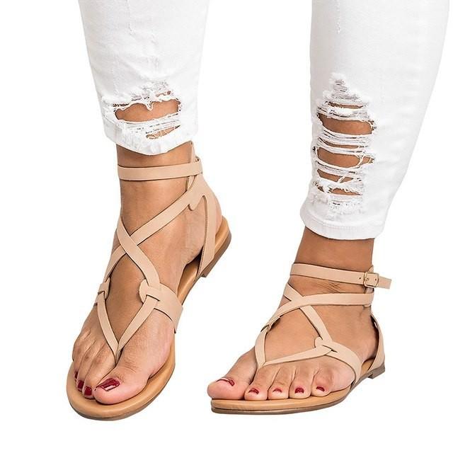 Item specifics  Seller SKU HlATrVOywI7  Brand  Women Roma Style Sandals  Flat Shoes Woman Sandal Gladiator Beach Women Shoes Female ... ea4cf0ea5590