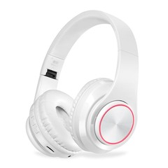 BH3 Wireless Bluetooth Headset Foldable Headphone Portable Earphones For PC White