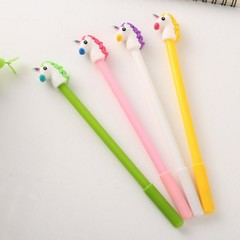 novetly cartoon animal unicorn shape gel pen black ink for school writing office supply stationer