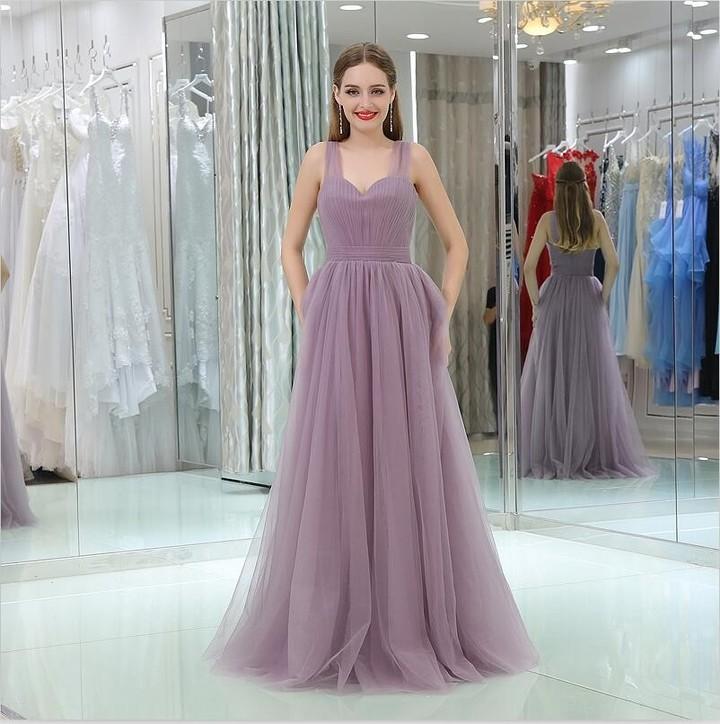 2018 Simple Cheap Long Plus Size Bridesmaid Dresses A Line