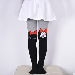 Autumn Girls Tights Cartoon Cat Baby Girl Pantyhose Fashion Knitted Cotton Cute Kids Stocking Bab