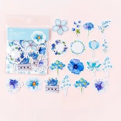 Lovely Fresh Flowers Decorative Stickers Adhesive Stickers DIY Decoration Diary Korean Stationery