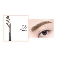 Head Automatic Eyebrow Pencil with Brush Waterproof Long-lasting Makeup Brows Pen Eyebrows Cosmet