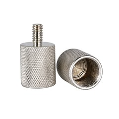 2 Pieces Screw Thread Adapter 5/8-inch Female to 1/4-inch Male Durable Solid Nickel Brass for Cam