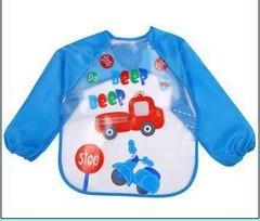 Burp Cloths Cute Cartoon Animals Baby Feeding Bibs Long Sleeve Waterproof Apron Kids Scarf Smock