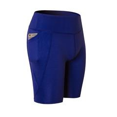 2018 New Pro Solid Shorts Women High Waist Anti-sneaked Lady Elastic Yoga Sports Fitness Run Pock