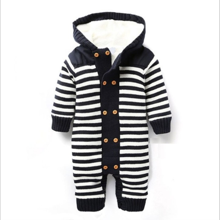 aa031a477 new baby romper children autumn and winter hooded thick sweater ...