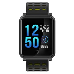 Smart Watch Color Screen Bluetooth IP68 Waterproof Heart Rate Blood Pressure Monitor Replaceable