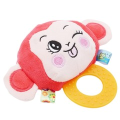 Animal Doll Plush Toys With Silicone Food Grade Teethers Baby Stuff Children Hanging Toys for Chi