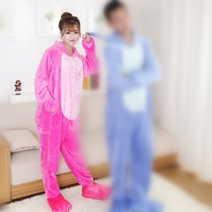 Cartoon Cosplay Pajamas Unisex Adult Kids Pajamas Flannel Pajamas Winter Garment Cute Cartoon Ani