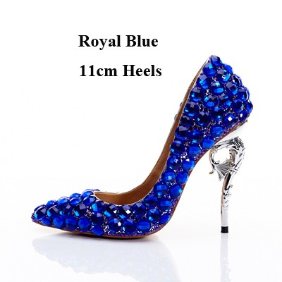 Royal Blue Color Stone Wedding Bride Shoes Customized Pointed Toe Thin Heel  Bridal Dress Shoes Pa  Product No  10151495. Item specifics  Seller ... 67ec8e971d86