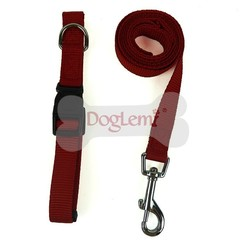 Dog Supplies Harnesses & Leads Solid nylon adjustable dog collar nylon collar Dog collar nylon