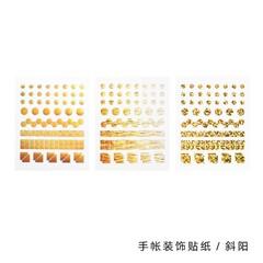 Pcs/pack Laser Glitter Reflective Bullet Journal Diary Label Calendar Mini Cute Stickers Scrapboo