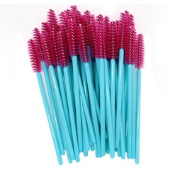 Blue Disposable Micro Eyelash Brushes Mascara Wands Applicator Wand Brushes Eyelash Comb Brushes