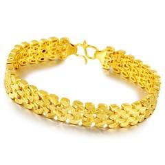 Gold Jewelry Sea Gold Jewelry Wholesale Simulation Gold Couple Bracelet Sand Golden Copper  Jewel