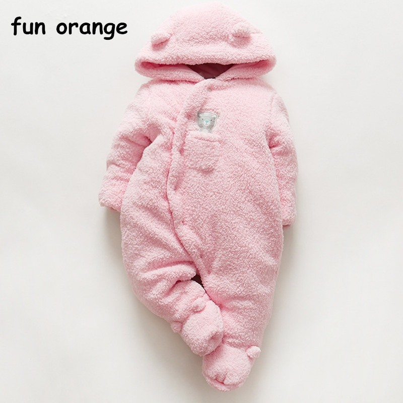 e571466c84cc Item specifics  Seller SKU MCYnWFxAl3d  Brand  Fun Orange Infant Thickened  Siamese rompers baby winter jumpsuit Newborn ...
