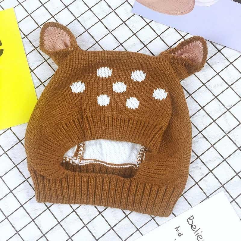 Dog Rabbit Deer Ears Baby Hat Soft Knitted Wool Beanie Children ... 7e5a5923b08