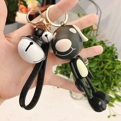 Cute Doll Animal Frog Fox Pig Dog Monkey Keychain Key Rings Bells Key Chains Women Car Bag Pendan