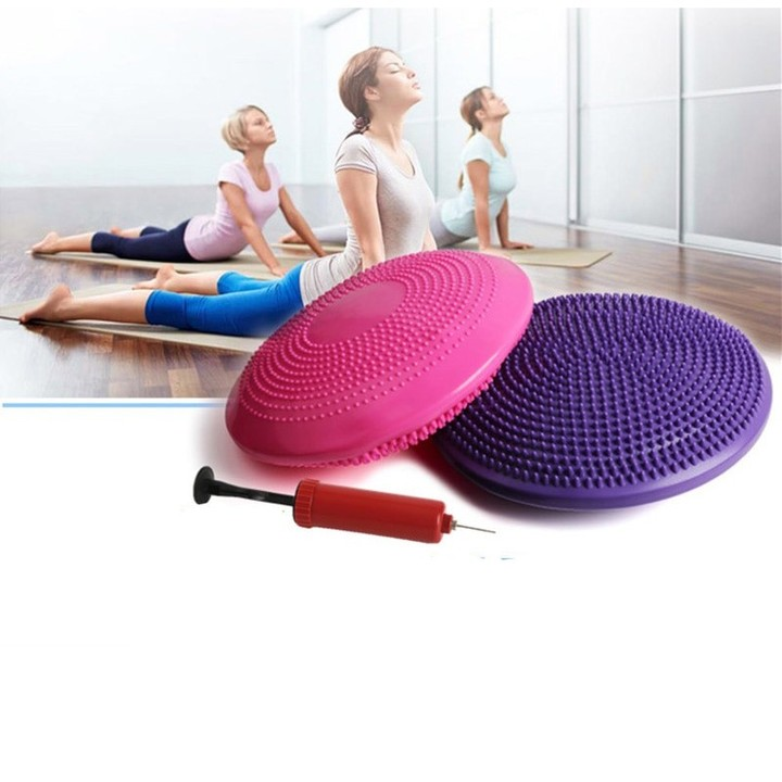 Balanced ball Fitness Massage Plate Cushion Stability Disc Wobble Pad Ankle Knee Board Mat Ball w