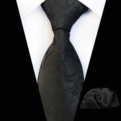 Polyester Necktie Handkerchief Set for Mens Shirt Business Wedding Marriage Floral Printed Gravat