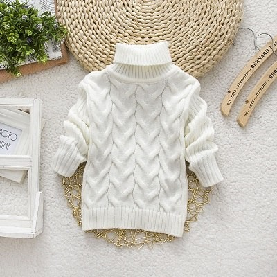 34a55aaed077 Sweater Boys Girls Turtleneck Solid Baby Kids Sweaters Soft Warm ...