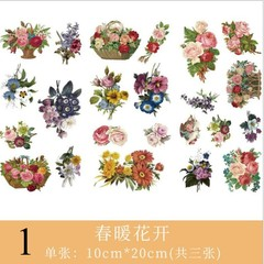 Stickers Kawaii Rubbit Feather Flower Stickers Decorative Adhesive Scrapbooking Stickers For Diar