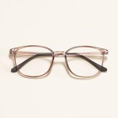 Vintage Computer Glasses Frame Men Women Square Spectacle Eyeglasses Frames Optical Plain Big Gla Tea Transparent