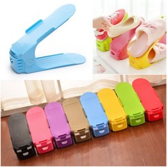 Thicken Storage Shoe Rack Double Layer Shoes Shelf Shoes Cabinet Organizer Storage Colorful Set A