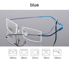 Memory Titanium Rimless Eyeglasses Women Men Lightweight Flexible Optical Glasses Frame Oculos De