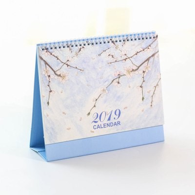 Calendars, Planners & Cards Office & School Supplies 2019 Year Cute Landscape Creative Desk Standing Paper Multifunction Organizer Schedule Planner Notebook New Cartoon Calendar