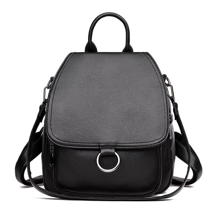 6c5ea88d80 Fashion Ring Women Backpack Youth Leather Vintage Backpacks for Teenage  Girls Female School Bag B