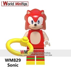 Sale Building Blocks Super Sonic Anime Sonic Shadow Knuckles Action Figures Doll Toy Christmas Gi