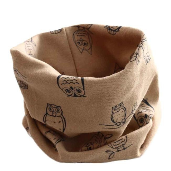 things Baby Clothing  Autumn Winter scarf for children Boys Girls Owl Print Collar Baby Scarf Cot