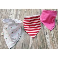 Bandana Bib Set of 3 Drool Bib Stripes Denim Solid Scarf Bib Baby Clothing Baby Bib Boy Girl Supe